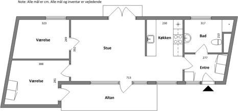 Lejlighed 3 værelses lejlighed