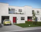 Hus/villa Kædehus med carport, terrasse og have