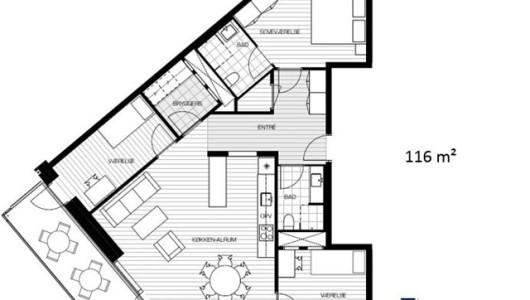 Lejlighed 4 værelses - Munkebjerg Park - Odense M